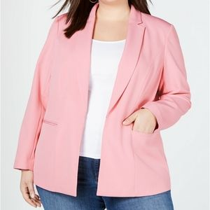 INC INTERNATIONAL PLUS SIZE 2X & 3X PINK BLAZER